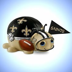 NFL and NCAA Music Boxes -  NFL New Orleans Saints Bug Music Box: #1 Fan