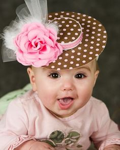 So cute, I love her hat, teach them to be real ladies at a young age. Such a darling