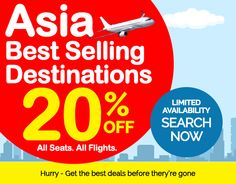 The Travel Hotlist - Top 30 Flights, Asia Specials - Bangkok: 20% Off | Manila: Save £120 & More...