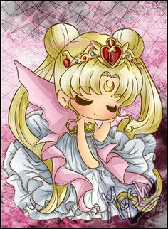 Neo Queen Serenity Chibi by DarkMysha Sailor Moon Stars, Sailor Jupiter, Sailor Mars, Sailor Moon Fan Art, Sailor Chibi Moon, Sailor Moon Crystal, Wallpapers Sailor Moon, Sailor Moon Wallpaper, Princesa Serena