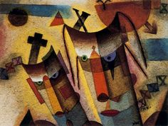 Xul Solar - Máscaras Human Soul, Wassily Kandinsky, Picasso, Great Artists, Abstract Art, Sculptures, Colours, Illustration, Painting