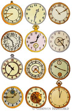 http://ceridwensoup.wordpress.com/2011/11/14/clock-illustrations/