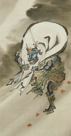 japanese Fujin ( the god of the wind ) by kawanabe kyosai
