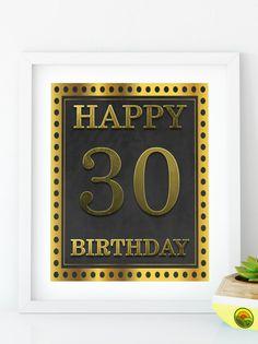 Items similar to Happy Birthday 55 Gold birthday sign birthday party Printable Gold party decor print birthday decoration on Etsy 30th Birthday Decorations, Gold Party Decorations, 70th Birthday Parties, Gold Birthday, Happy Birthday Signs, Diy Banner, Printable, Birthdays, Invitation