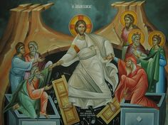 Descent Into Hades Whispers of an Immortalist: Icons of Resurrection and Ascension 1 John Chrysostom, Christ Is Risen, Jesus Christ, Byzantine Icons, Religious Icons, Sacred Art, Hades, Bible, Gallery