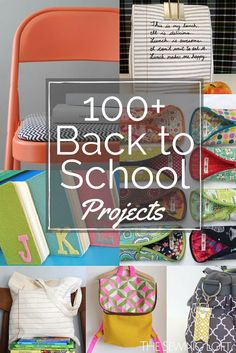 SSend the kids off to school in style with these easy to make DIY back to school projects. They include everything from backpacks to nap mats