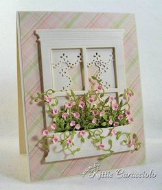 Sweet & Pretty Window Flower Box Card...kittie747-Cards and Paper Crafts at Splitcoaststampers.