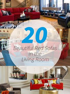 A list of wonderful array of red sofas in living room that will surely inspires you.