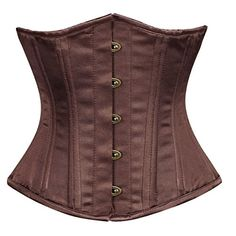 Best Shapewear   Brown Satin Double Bone Underbust Corset Top Waist Cincher 34 Brown *** Check out this great product. Note:It is Affiliate Link to Amazon. #commentalways