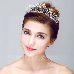Fancy Crystal/Alloy Tiaras (042075740) Bridal Tiara, perfect height and detail for your big day. On Sale Now! Check out our full collection today