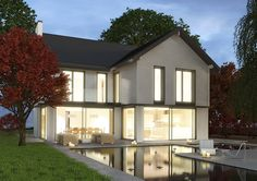 architects design for a contemporary Stommel Haus House Plans Uk, Southern Living House Plans, Rural House, Stommel Haus, Grand Designs Houses, Architecture Design, German Houses, Architectural House Plans, House Extensions