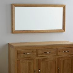 Bevel Natural Solid Oak Wall Mirror by Oak Furniture Land Oak Furniture Land, Solid Wood Furniture, Home Office Furniture, Bedroom Furniture, Colour Schemes, Solid Oak, Wall Mirror, Mirrors, Modern Design