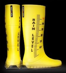 Wanna beat your local meteorologist to the punch? Any time you spy precipitation, slip on these Rain Level Boots and get to work. Available in a wide varie Festival Wellies, Stop The Rain, Rain Gauge, Incredible Gifts, Rubber Rain Boots, Me Too Shoes, Slip On, Footwear, The Incredibles