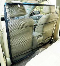Zone Tech Pet Car Net Barrier - Large Universal Mesh Vehicle Pet Barrier * You…