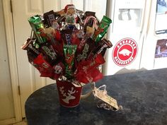 for Christmas.these small ones are awesome thank you gifts for teachers, coworkers, secret pals, kids, and Physical therapists. Secret Pal, Secret Santa, Gifts For Coworkers, Gifts For Friends, Cross Wall Decor, Candy Bouquet, Christmas Projects, Christmas Ideas, Thank You Gifts