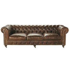 Sofá Chesterfield de 4 ... - Vintage