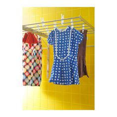 GRUNDTAL Drying rack, wall IKEA Adjustable to 3 different positions. Adjust according to space and need. Folds to save space when not in use.