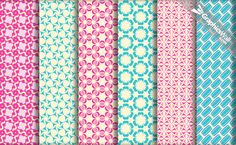 Nice set of 6 tileable (seamless) vector patterns