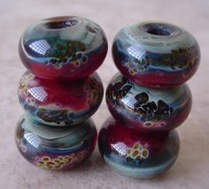 SUBDUED boro handmade lampwork glass beads by JacksonRiverGlass