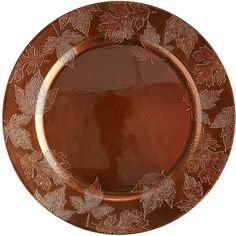 Copper Leaf Charger | Pier 1 Imports