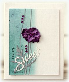 Report from a desk CAS Colours & Sketches 174 Poppy Cards, Karten Diy, Purple Cards, Penny Black Stamps, Making Greeting Cards, Beautiful Handmade Cards, Heart Cards, Card Sketches, Watercolor Cards