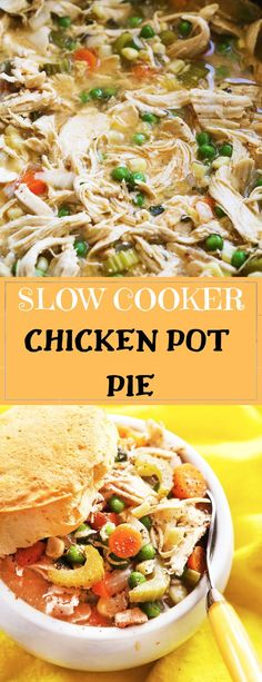 Delicious chicken pot pie near me and Fresh Tastes! Large Slow Cooker, Slow Cooker Soup, Slow Cooker Chicken, Slow Cooker Recipes, Chicken Meals, Top Recipes, Beef Recipes, Salad Recipes, Yummy Recipes