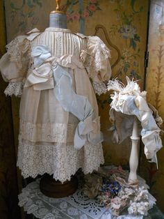 ~~~ Amazing French Childlike Couture Doll Costume with Bonnet ~~~ from whendreamscometrue on Ruby Lane