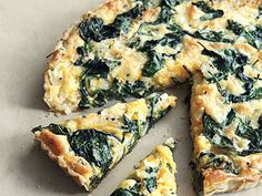 Spinach Tart - this is my absolute FAVORITE recipe.  It's amazing for any meal of the day.  I use extra sharp cheddar. Soooo good