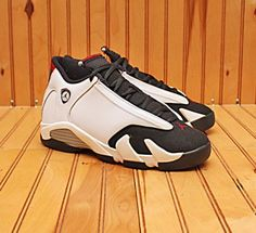 big sale 4acc9 84be1 2014 Nike Air Jordan XIV 14 Retro Size 4.5Y - Black White Red - 654963 102