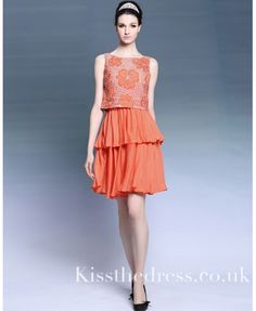 Orange Chiffon Embro