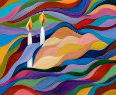 May we have much shalom this shabbat. Jewish Crafts, Jewish Art, Shabbat Shalom Images, Good Shabbos, Arte Judaica, Shabbat Candles, Thinking Day, Menorah, Art Lessons