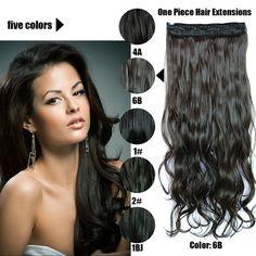 61 Centímetros 120 Gramas 1 peça Mega Hair Tic Tac Cabelo Sintético Ondulado Castanhos Escuros/Pretos //Price: $95.89 & FREE Shipping