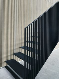 Built for a family, who are the third generation owners of VIPP this beach villa, Dragor House, is designed by Studio David Thulstrup and Mads Lund. Stair Handrail, Staircase Railings, Staircase Design, Steel Stairs Design, Staircase Ideas, Staircases, Modern Stairs Design, Stair Design, Stairs Architecture