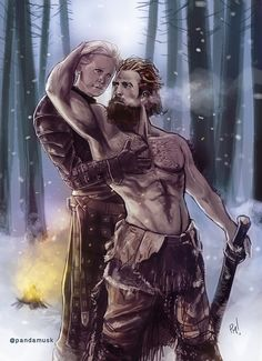 GoT fan art Tormund Game Of Thrones, Game Of Thrones Brienne, Got Game Of Thrones, Tormund And Brienne, Brienne Of Tarth, Lady Brienne, Winter Is Here, Winter Is Coming, Game Of Thones