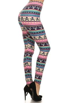 Affordable, comfortable clothing made to fit. Funky Leggings, Skull Leggings, Printed Leggings, Candy Skulls, Girls Boutique, Skull Print, Comfortable Outfits, Clothing Company, Mommy And Me
