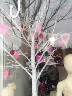 Valentines window display, Victoria.
