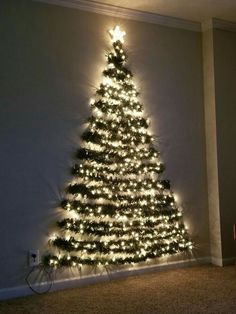 36 Diy Wall Christmas Tree Ideas, # Ideas Tree Informations About 36 Diy Wall Weihnachtsbaum Ideen – Chritmas Pin Wall Christmas Tree, Noel Christmas, Xmas Tree, Christmas Ornaments, Christmas Tree Made Of Lights, Flat Back Christmas Tree, Alternative Christmas Tree, Winter Christmas, Simple Christmas Trees