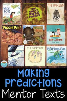 Mentor texts are an amazing way to model and teach students a reading strategy! These are a few of my favorites to teach making predictions! 3rd Grade Reading, Kindergarten Reading, Teaching Reading, Predicting Activities, Reading Activities, Reading Lessons, Reading Skills, Wordless Picture Books, Making Predictions