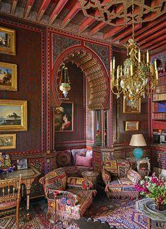 An Intimate Look Inside Yves Saint Laurent's Private Marrakech Home - Yves Saint Laurent Villa Marrakesh - Moroccan Design, Moroccan Decor, Moroccan Style, Design Marocain, Moroccan Interiors, Interior Decorating, Interior Design, Design Art, Celebrity Houses