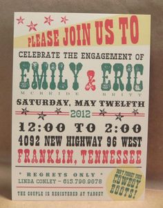 Engagement / Save the Date / Wedding / Custom Party Invitation. Customize through Darby Cards!
