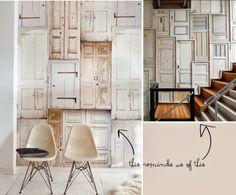 Scrapwood Doors as Wallpaper :-) Wallpaper Door, Sunday Readings, Doors Galore, Surface Pattern Design, Pattern Designs, Patterns, H & M Home, Textured Wallpaper, Industrial Chic