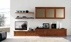 Credenza, Flat Screen, Shelves, Cabinet, Interior Design, Storage, Simple, Living Rooms, Furniture