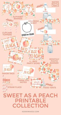 Ideas Birthday Party First Sweets Its My Birthday Month, Girl First Birthday, Baby Birthday, First Birthday Parties, First Birthdays, Birthday Ideas, Birthday Recipes, Peach Baby Shower, Shower Baby