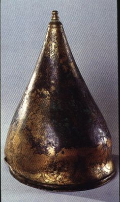 Celtic bronze helmet, 3rd century BC, La Tène, From the Marne region of France