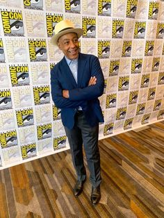 spotted at wearing his Quality without Compromise Fedora Hats, Suit And Tie, Hats For Men, Mens Suits, Panama Hat, Bespoke, Celebs, How To Wear, Blue