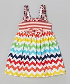 Orange Zigzag Babydoll Dress - Infant, Toddler & Girls