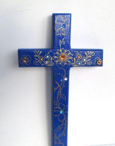 Cross Decorative Wood Cross Wall Cross by Jemyem on Etsy, $10.00