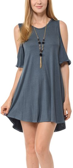 Cement Cutout Shift Dress - Plus