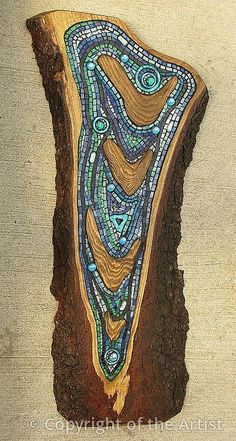 "Maplestone Gallery ~ Contemporary Mosaic Art ""Ripples"" by Gillian Swanink"