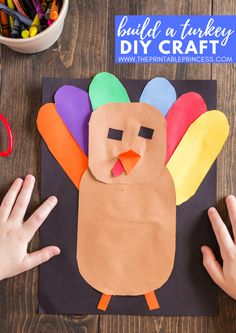 Turkey Craft for Kids | The Printable Princess